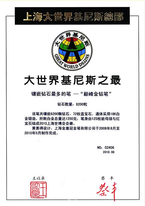 certificato Guinness