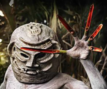 Papuasi mask and claws