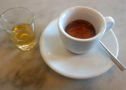 Grappa e caffe