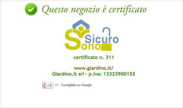 SonoSicuro Certificato
