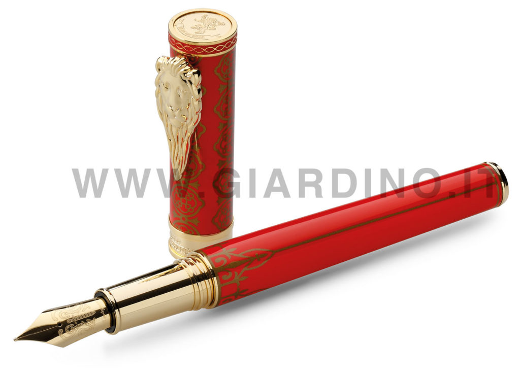 Game of Thrones - red and gold Lannister fountain pen